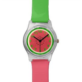 Watermelon Slice Summer Fruit with Rind Watch