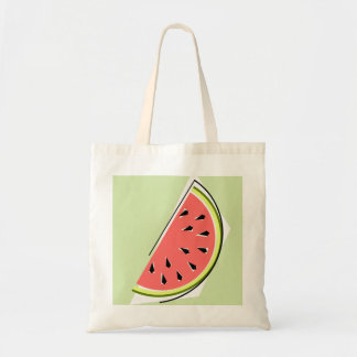 Watermelon Slice tote bag green