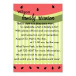 """Watermelon Slices 5"""" X 7"""" Invitation Card"""