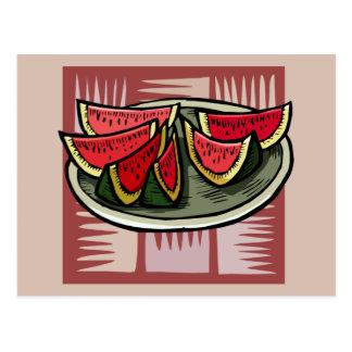 Watermelon Slices Modern Print Postcard