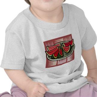 Watermelon Slices Modern Print Shirt