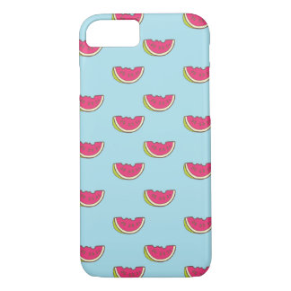Watermelon Slices on Teal Pattern iPhone 8/7 Case