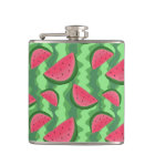 Watermelon Slices Pattern Hip Flask