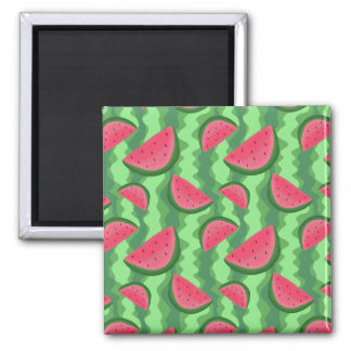 Watermelon Slices Pattern Magnet