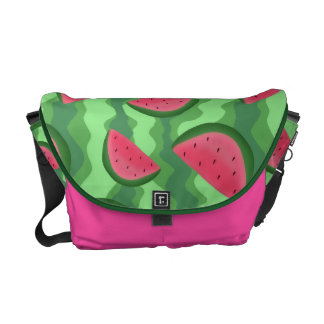 Watermelon Slices Pattern Courier Bag