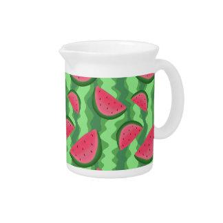 Watermelon Slices Pattern Pitcher