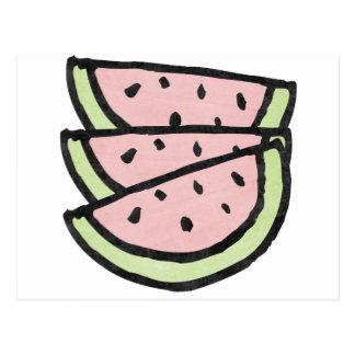 Watermelon Slices Postcard