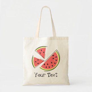 Watermelon Slices 'Text' tote bag