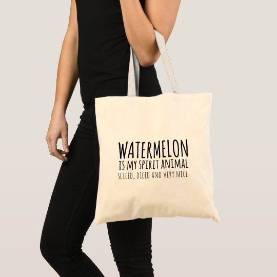 Watermelon Spirit Animal Funny Quote Tote Bag