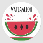 Watermelon Splash Stickers