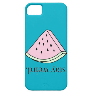 watermelon stay weird case iPhone 5 covers