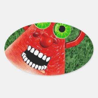Watermelon Oval Sticker