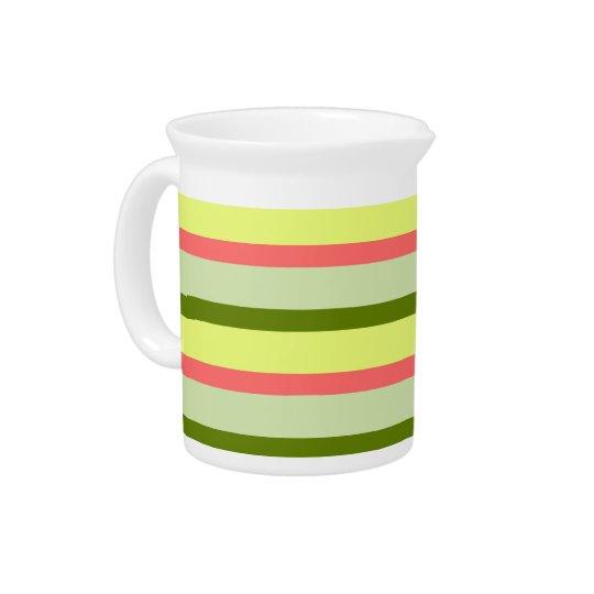 Watermelon Stripe Classic horizontal pitcher