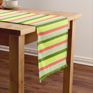 Watermelon Stripe Classic table runner
