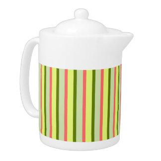 Watermelon Stripe Classic teapot