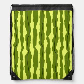 Watermelon Stripe drawstring backpack