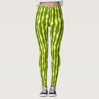 Watermelon Stripe leggings
