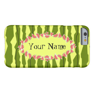 Watermelon Stripe oval 'Name' horizontal Barely There iPhone 6 Case