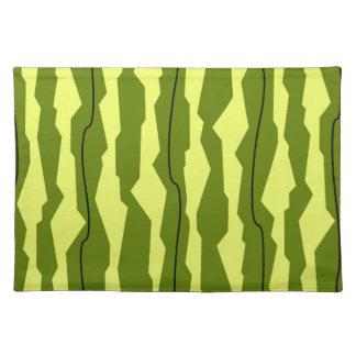 Watermelon Stripe placemat cloth