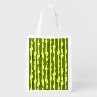 Watermelon Stripe reusable bag