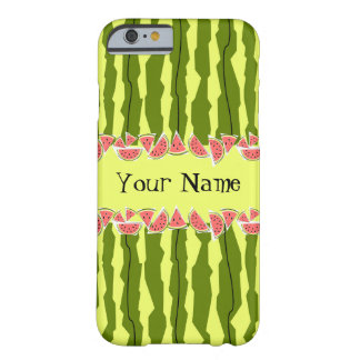 Watermelon Stripe Your Name iPhone 6 case