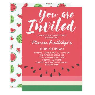 Watermelon Summer Birthday Party Card