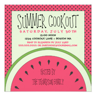 Watermelon Summer Cookout Invitation