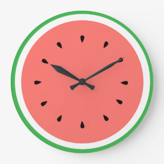 watermelon summer fruit large clock