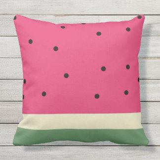 Watermelon Summer Fun Fruit Outdoor Throw Pillow