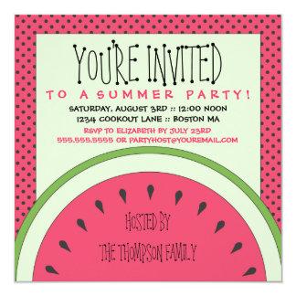 Watermelon Summer Party Invitation