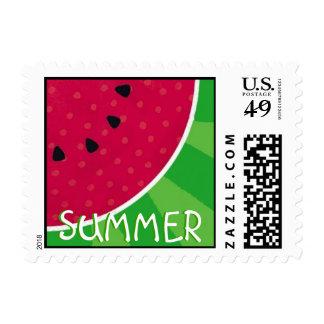 Watermelon Summer postage stamp