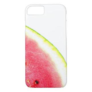Watermelon summer trendy fruit photo pink green iPhone 8/7 case