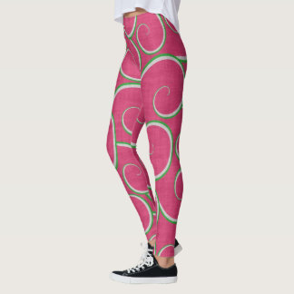 Watermelon Swirls Leggings