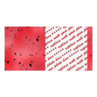 Watermelon Texture Background Photo Card Template