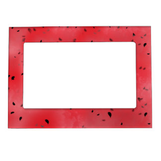 Watermelon Texture Background Photo Frame Magnets