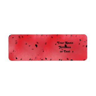 Watermelon Texture Background Return Address Label
