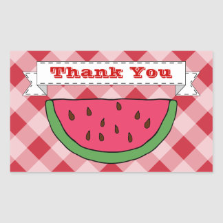 Watermelon Thank You Stickers