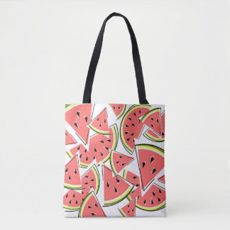 Watermelon tote bag pink back