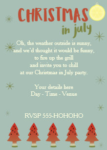 Christmas In July Party.In July Christmas Party Invitations Zazzle Uk