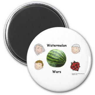 Watermelon Wars 6 Cm Round Magnet