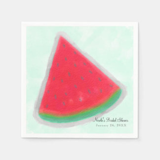 Watermelon Watercolor Birthday Party Personalized Paper Napkins