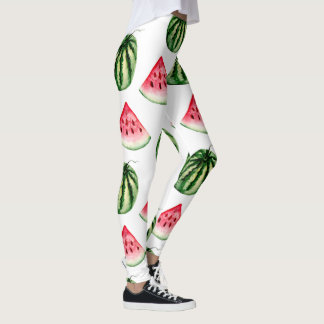 Watermelon Watercolor Pattern Leggings