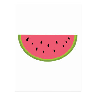 Watermelon Watermelon Fruit Sweet Health Red Half Postcard