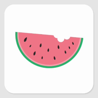 Watermelon Watermelons Fruit Sweet Health Fresh Square Sticker