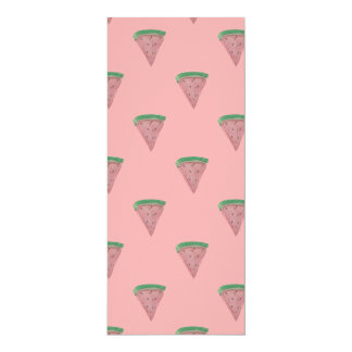 Watermelon Wedges in Watercolors on Rosy Pink 10 Cm X 24 Cm Invitation Card