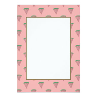 Watermelon Wedges in Watercolors on Rosy Pink 13 Cm X 18 Cm Invitation Card