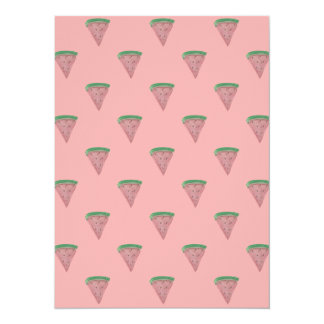 Watermelon Wedges in Watercolors on Rosy Pink 14 Cm X 19 Cm Invitation Card