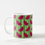 Watermelon Wedges Pattern Basic White Mug