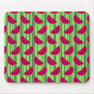 Watermelon Wedges Pattern Mouse Mat