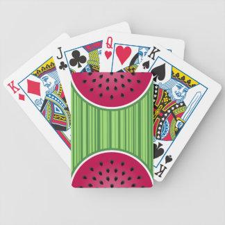 Watermelon Wedgies Poker Deck
